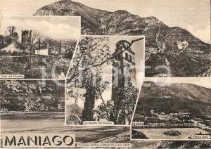 1968 MANIAGO (PN) Vedutine con torrente CELLINA e monte Fara *Cartolina FG NV