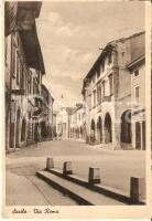 1962 SACILE (PN) Latteria e farmacia in via Roma *Cartolina ANIMATA FG VG