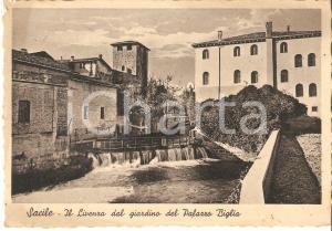 1936 SACILE Fiume LIVENZA visto dal giardino di Palazzo BIGLIA *Cartolina FG VG