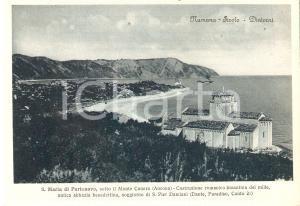 1955 ca NUMANA (AN) Chiesa di Santa Maria di Portonovo - Panorama *Cartolina FG