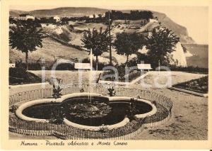 1955 ca NUMANA (AN) Piazzale Adriatico e Monte Conero - Panorama Cartolina FG NV