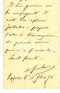 1890 PADOVA Avv. Adolfo CARDIN FONTANA - Biglietto da visita autografo