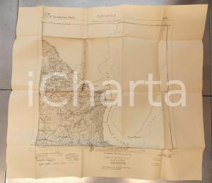 1910 ca Istituto Geografico Militare CARTA D'ITALIA - MARCHIROLO *Mappa 60x50 cm