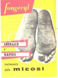1940 ca MILANO Laboratori GUIEU- Pubblicità farmaceutica FONGERYL  LAVRIL 13x18