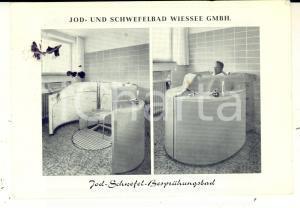 1964 BAD WIESSEE Jod- und Schwefelbad Wiessee *Cartolina pubblicitaria VINTAGE