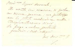 1890 ca PADOVA Padre Vittore SOTTAZ rettore basilica - Biglietto autografo