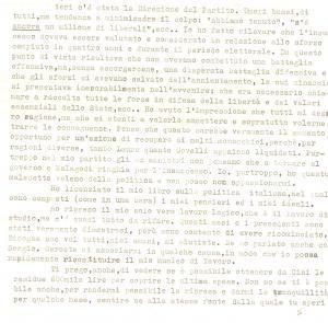 1958 ROMA Pompeo BIONDI sogna il recupero del partito monarchico *Autografo