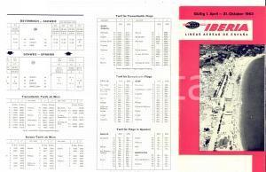 1963 IBERIA Lineas aereas de España - Brochure orari VINTAGE DEUTSCH