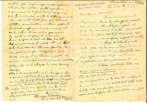 1926 PADOVA Don Giuseppe REBESCHINI e le difficoltà della scuola di ricamo