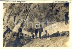 1917 Massiccio della PRESOLANA - Escursione alla GROTTA DEI PAGANI *Foto 9x6 cm