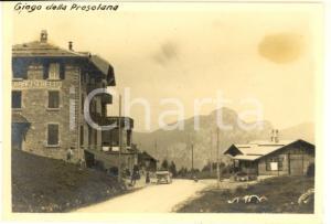1917 GIOGO DELLA PRESOLANA - Turisti all'albergo FRANCESCHETTI *Foto 9x6 cm