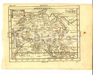 1790 ca Claudio BUFFIER Geografia universale - ASIA *Mappa 24x18 cm