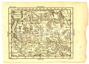 1790 ca Claudio BUFFIER Geografia universale - MOSCOVIA *Mappa 22x16 cm