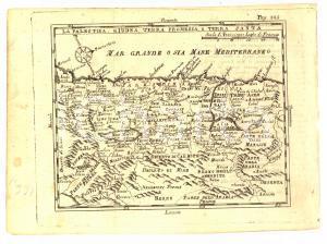 1790 ca GEOGRAFIA La Palestina, Giudea, Terra Promessa *Tavola 22x17 cm
