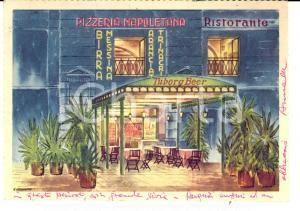 1967 PALERMO Piazza Bellini - Pizzeria STANCAMPIANO *Cartolina FG ill. CERRUTO