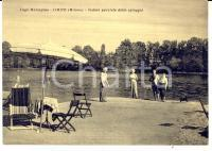 1959 LIMITO DI PIOLTELLO (MI) Lago MALASPINA - Spiaggia *Cartolina ANIMATA FG NV