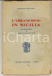 1935 Leonardo BONANNO L'urbanesimo in Sicilia *Ed. TEMPO NOSTRO ADRIA