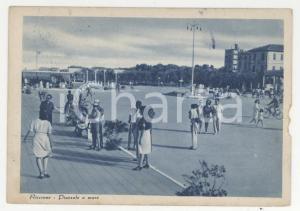 1943 RICCIONE Veduta del Piazzale a mare *Cartolina postale ANIMATA FG VG
