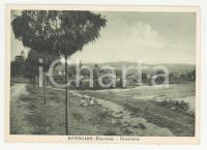1950 ca RIVERGARO (PC)  Panorama di campagna *Cartolina ANIMATA bambini FG NV