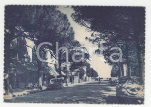 1940 ca RICCIONE Veduta di viale Ceccarini *Cartolina ANIMATA con auto FG NV