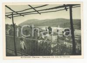 1950 ca RIVERGARO Panorama con vista del Pillerone *Cartolina animata FG
