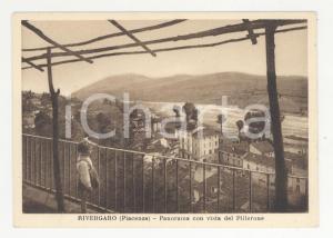 1950 ca RIVERGARO Panorama con vista del Pillerone -Cartolina ANIMATA FG NV