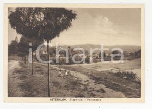 1950 ca RIVERGARO Panorama con vista sulla campagna *Cartolina ANIMATA FG