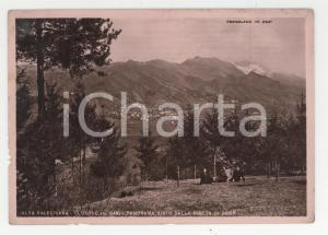 1949 CLUSONE Panorama visto dalla Pineta di Beur *Cartolina ANIMATA FP VG