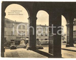 1950 ca ACQUAPENDENTE Piazza del Comune e monumento *Cartolina ANIMATA auto FG