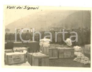 1917 WW1 PASUBIO / VALLI DEI SIGNORI Distribuzione doni ai soldati *Foto 7x5 cm