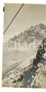 1917 WW1 MONTE PASUBIO Veduta della teleferica con l'Albergo DOLOMITI *Foto 8x14