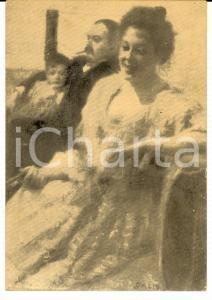 1940 ca ARTE Giacomo BALLA - Famiglia CARELLI - Cartolina postale FG NV