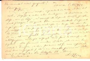 1920 TORINO Vittorio CIAN riceve il volume di un collega - Cartolina AUTOGRAFA