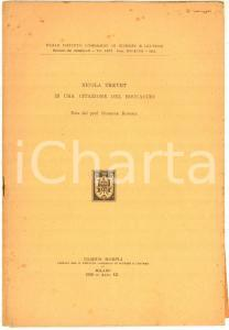 1933 Giuseppe ROTONDI Nicola Trevet in una citazione del Boccaccio *AUTOGRAFO