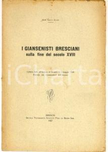 1927 Guido ZADEI I giansenisti bresciani sulla fine del secolo XVIII - 24 pp.