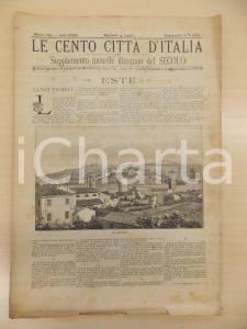 1894 CENTO CITTÀ D'ITALIA Castello di ESTE *Supplemento del Secolo n.10265