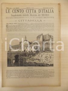 1901 CENTO CITTÀ D'ITALIA Torre Malta di CITTADELLA *Supplemento Secolo n.12581