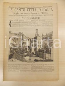 1895 CENTO CITTÀ D'ITALIA Ca' Marcello di MONSELICE *Supplemento Secolo n.10746