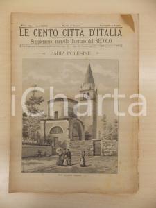 1893 CENTO CITTÀ D'ITALIA Badia Polesine *Supplemento del Secolo n.9965