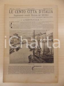 1895 CENTO CITTÀ D'ITALIA La Vena di CHIOGGIA *Supplemento del Secolo n.10478