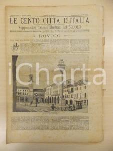 1894 CENTO CITTÀ D'ITALIA Rovigo *Supplemento del Secolo n.10235 - 30x44 cm