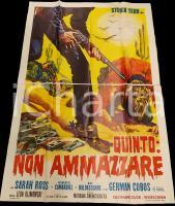 1969 QUINTO: NON AMMAZZARE Steve TEDD Sarah ROSS *Manifesto WESTERN 140x200 cm