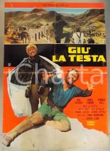 1971 GIU' LA TESTA Sergio LEONE - SPAGHETTI WESTERN Eli WALLACH *Manifesto 60x90