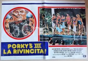1985 PORKY'S III LA RIVINCITA Chuck MITCHELL Pool scene *Manifesto 66x45 cm