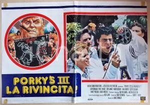 1985 PORKY'S III LA RIVINCITA Don MONAHAN watches a film *Manifesto 66x45 cm