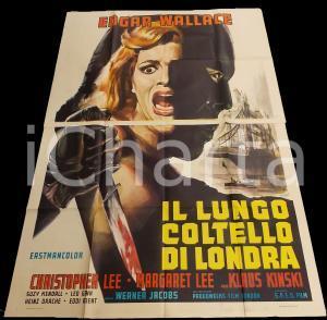 1966 IL LUNGO COLTELLO DI LONDRA Psycho circus - Klaus KINSKI *Manifesto 140x200