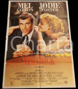 1994 MAVERICK Mel GIBSON Jodie FOSTER Film WESTERN *Manifesto 100x140