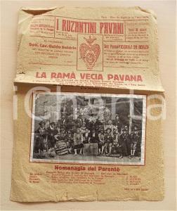 1935 ca PADOVA I RUZANTINI PAVANI - La Ramà vecia *Numero unico DIALETTO RARO