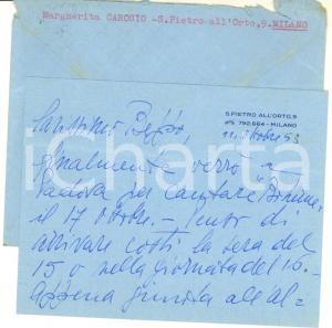 1953 MILANO Soprano Margherita CAROSIO pronta per