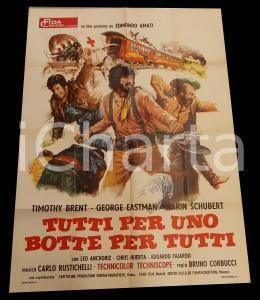 1973 TUTTI PER UNO BOTTE PER TUTTI Bruno CORBUCCI Chris HUERTA Manifesto 100x140